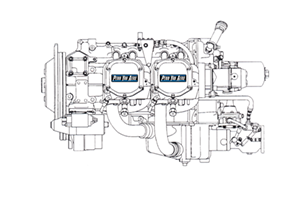 Lycoming 360 Aircraft Engine Line Art